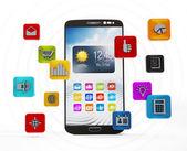Smartphone applikationer — Stockfoto