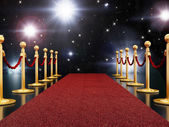 Red carpet nacht — Stockfoto