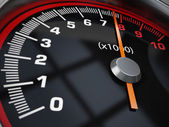 Speed gauge — Stock Photo