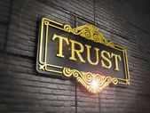 Trust signboard — Stock Photo