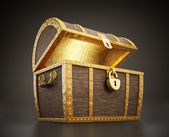 Treasure chest full of treasures — Stock Photo