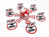 Global computernetwerk — Stockfoto