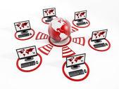 Red informática global — Foto de Stock