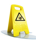 Wet floor warning — Stock Photo
