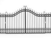 Black iron gate — Stock Photo