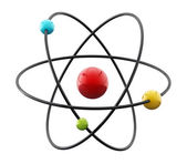 Molecule Atom model — Stock Photo