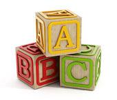 Toy blocks isolated on white — Stock Photo