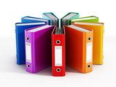 разноцветные папки — Стоковое фото
