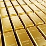 Gold bars arrangement — Stock Photo #49507939