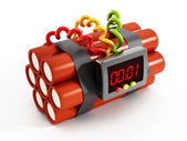 Dynamites with electronic timer — Stock Photo