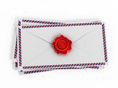Enveloppes 与电子邮件标志 — 图库照片