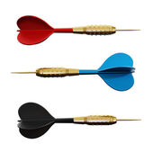 Isolated darts — Stock Photo