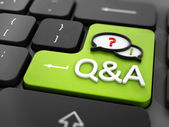 Questions and answers key — Stock Photo