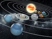 Ilustracji Układu Słonecznego — Zdjęcie stockowe