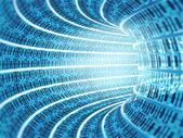 Binární kód tunel — Stock fotografie