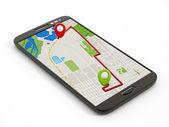 Navigation map on smartphone — ストック写真