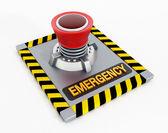 аварийная кнопка — Стоковое фото