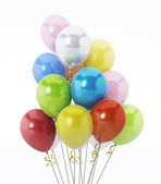 Multi colored party balloons — Stock Photo