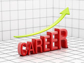 Rising career success — Stock Photo