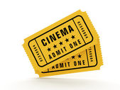 билеты в кино — Стоковое фото