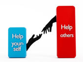 Help yourself and help others — Stock Photo