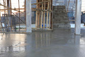 Floor wet mixed concrete at construction site — Stockfoto