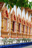Sculpture on the window temple of buddhism, Wat Mahawan temple — Stockfoto
