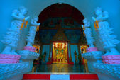 Thai temple, culture of buddhism, Wat Sanpayang luang, Lamphun — ストック写真