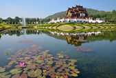 Ho Kham Luang at Royal Flora Expo, traditional thai architecture — Stock Photo