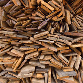 Pile of old wood plank — Stock Photo