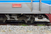 Train tracks in country developing — Stock Photo