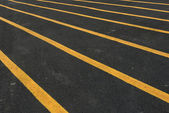 New road, surface a new asphalt road way — Stock Photo