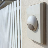 Doorbell white modern style for the house — Stock Photo