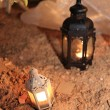 Candle lamp decoration festival of light, lighting decorate — Stock Photo #50401271