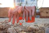 Konstrukcja rękawicy — Zdjęcie stockowe