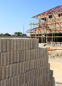 Brick for Building construction house — Stock Photo