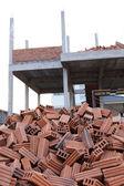 Cihla stavební konstrukce domu — Stock fotografie