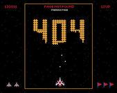 Foutpagina in oude stijl van spelen — Stockvector