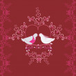 Illustration of wedding pigeons and heart. Seamless texture or card of dove — Stock Photo #51652555