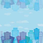 Seamless texture. Modern real estate buildings design. Urban landscape texture — Стоковое фото