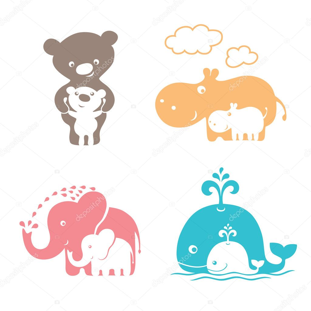 cute animals family stock vector 49684921 bear vector art bear vector photoshop