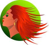 Redhead — Stock Vector