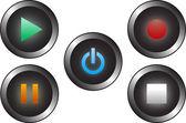 Audio Button's — Stock Vector