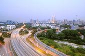 Curving Road Towards Kuala Lumpur — Stock Photo