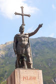 Don Pelayo statue in Covadonga — Foto Stock