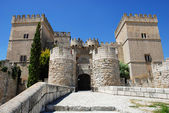 Ampudia castle — Stock Photo