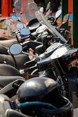 Estacionamento de moto — Fotografia Stock