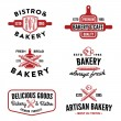 Set of bakery badges — Stock Vector #50497573
