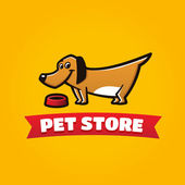 Animalerie chien drôle symbole — Vecteur