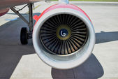 Turbo fan of a jet airplane — Stock Photo